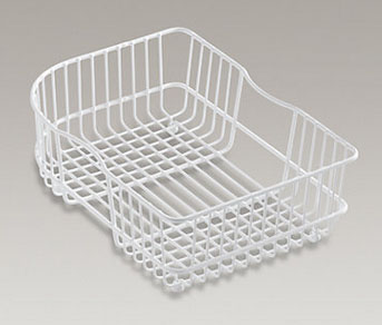 Kohler | K-6521-0 | K-6521-0 Sink basket for Executive Chef  and Efficiency  kitchen sinks Stainless Steel Vinyl Coated WHITE
